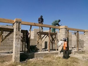 Zambia members building an orphanage